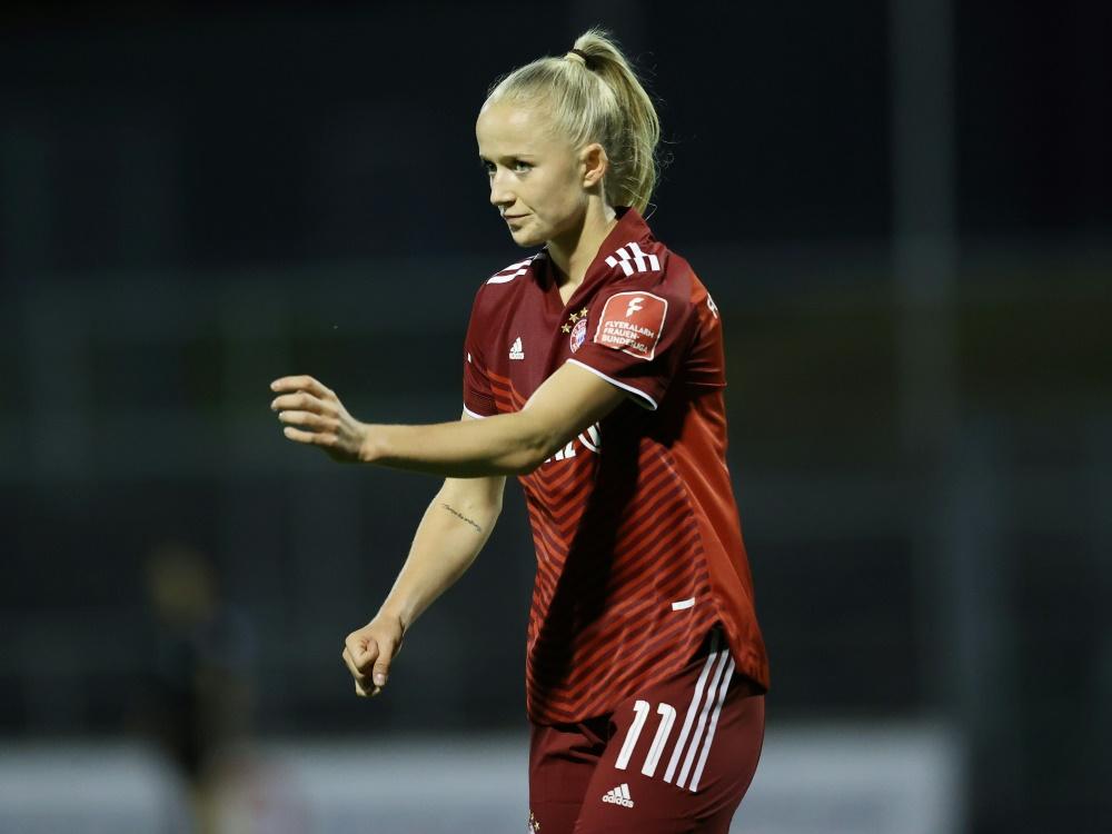 Beim Erfolg der Bayern doppelt erfolgreich: Lea Schüller (Foto: SID)