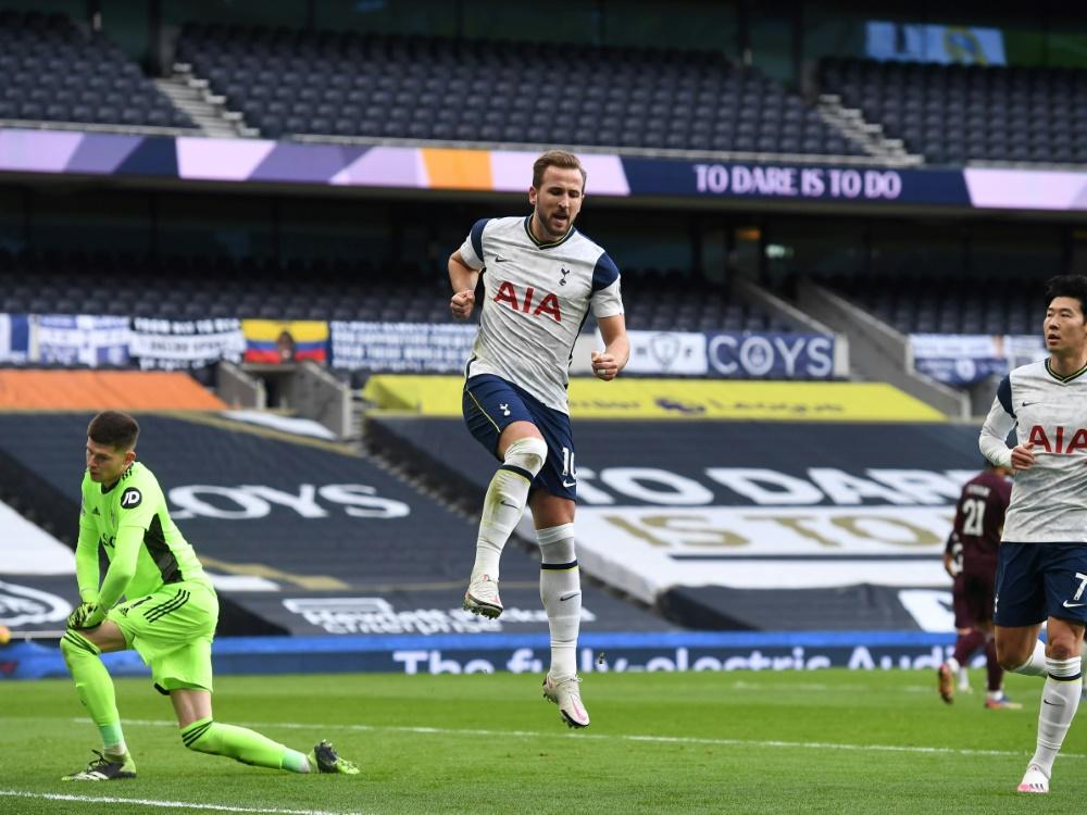 Harry Kane bringt die Spurs per Foulelfmeter in Führung