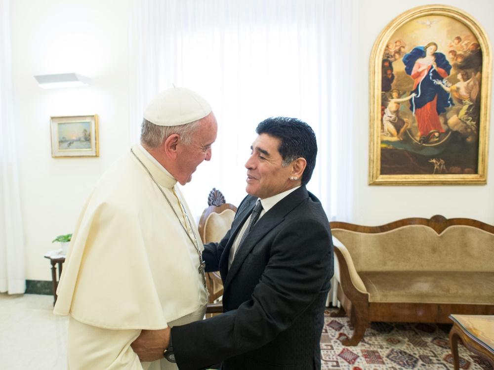 Maradona besuchte den Papst 2014 im Vatikan