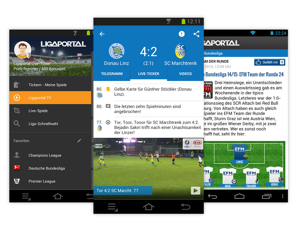 Fussball App Osterreich S Live Ticker Fur Iphone Android