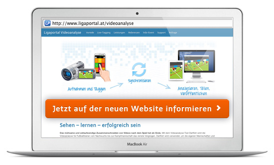 Zur Ligaportal Videoanalyse Website